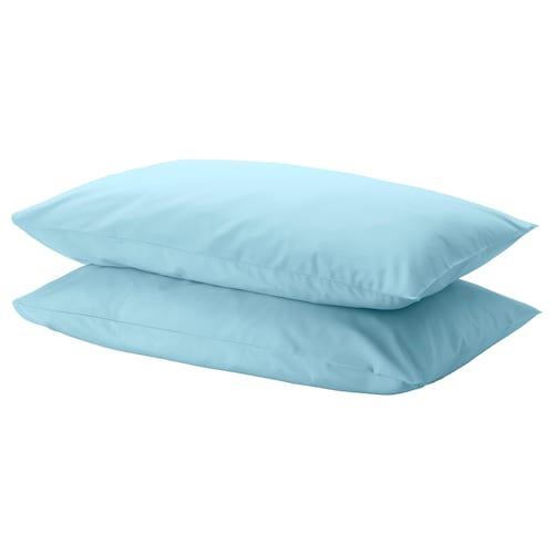 DVALA pillowcase light blue 152 /inch² 2 pack 50 cm 80 cm 2 pack