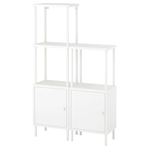 IKEA DYNAN Shelving unit with 2 cabinets