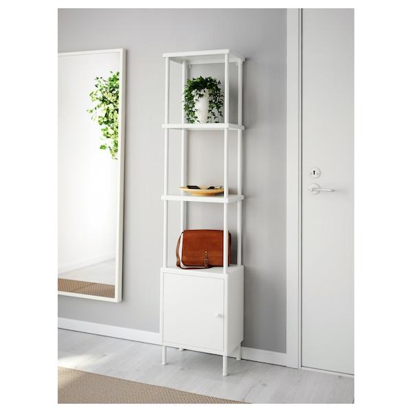 DYNAN Shelving unit with cabinet, white, 40x27x174 cm