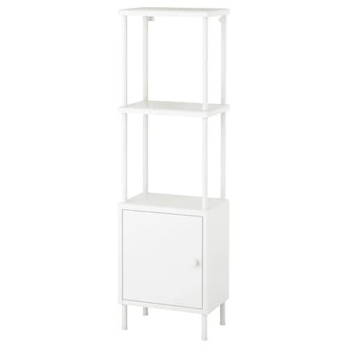 DYNAN shelving unit with cabinet white 40 cm 27 cm 134 cm