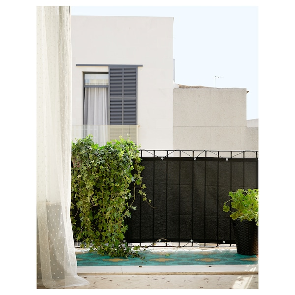 DYNING balcony privacy screen black 250 cm 80 cm