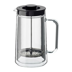 EGENTLIG coffee/tea maker, double-walled, clear glass