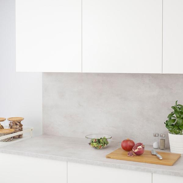 EKBACKEN Worktop, light grey concrete effect/laminate, 186x2.8 cm