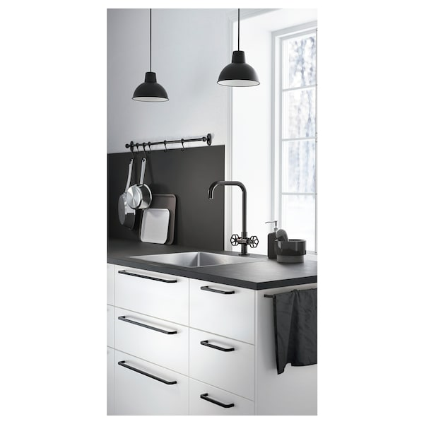 EKBACKEN Worktop, matt anthracite/laminate, 186x2.8 cm