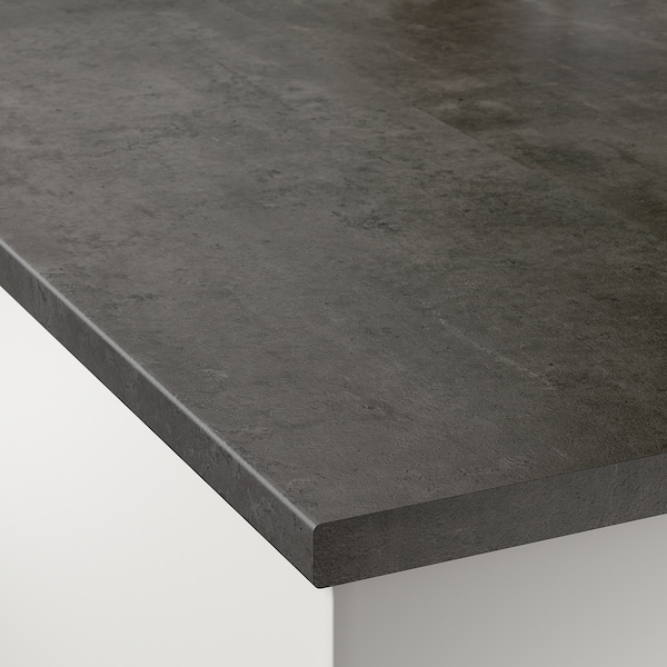 EKBACKEN worktop concrete effect/laminate 186 cm 63.5 cm 2.8 cm