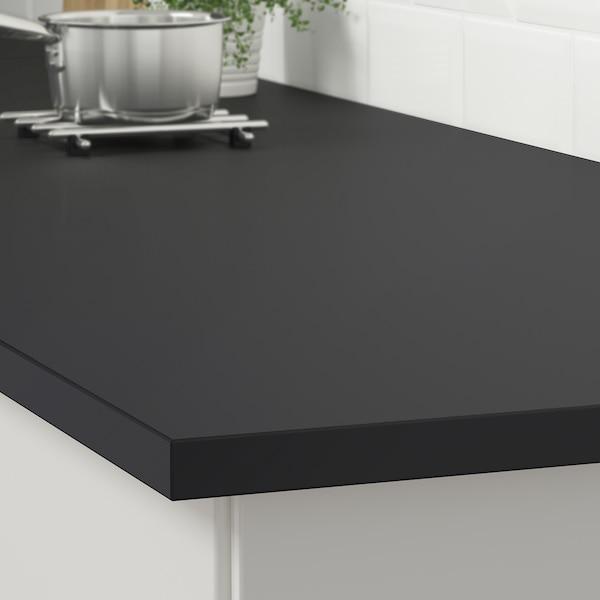 EKBACKEN worktop matt anthracite/laminate 186 cm 63.5 cm 2.8 cm