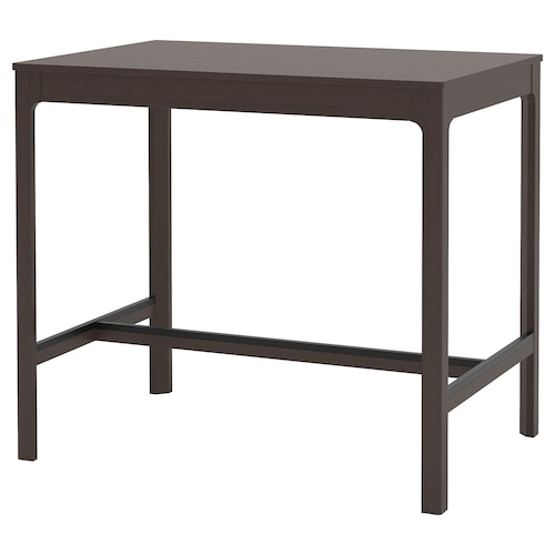 EKEDALEN bar table dark brown 120 cm 80 cm 105 cm