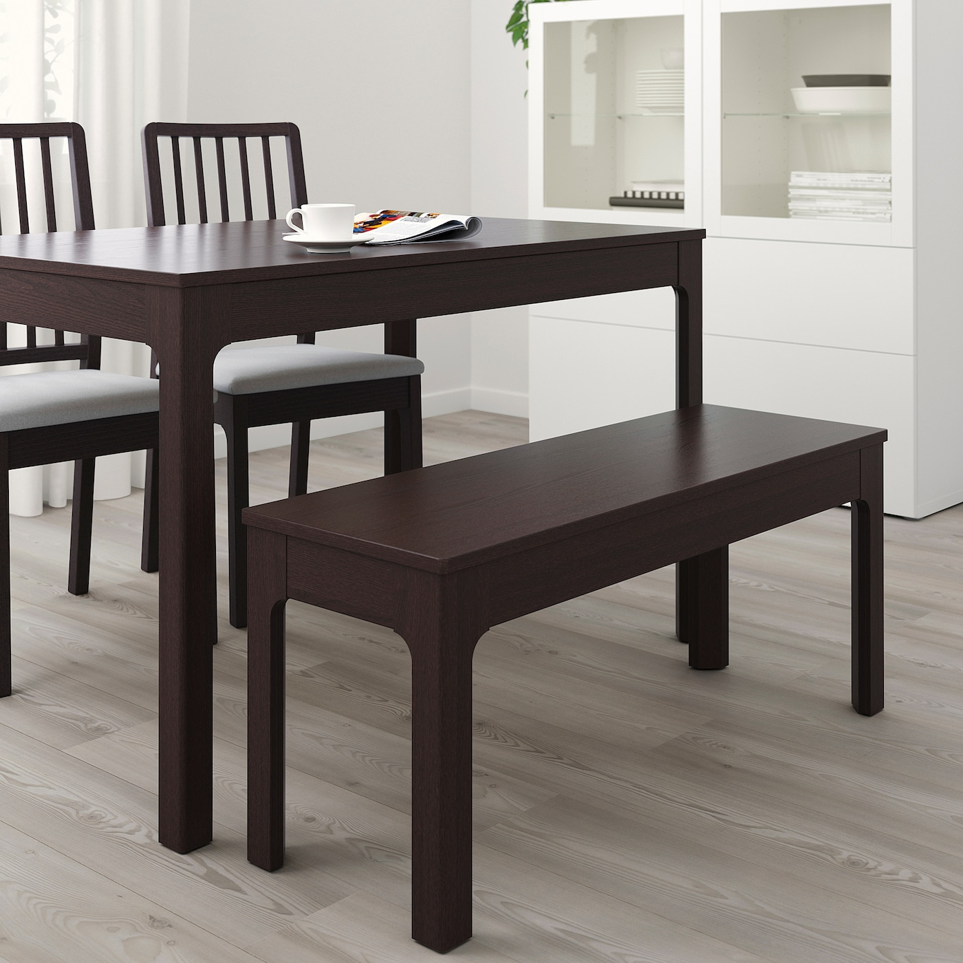 Ekedalen Bench Dark Brown Ikea