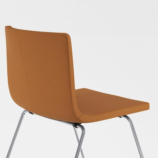 EKEDALEN / BERNHARD table and 4 chairs white/Mjuk golden-brown 120 cm 180 cm