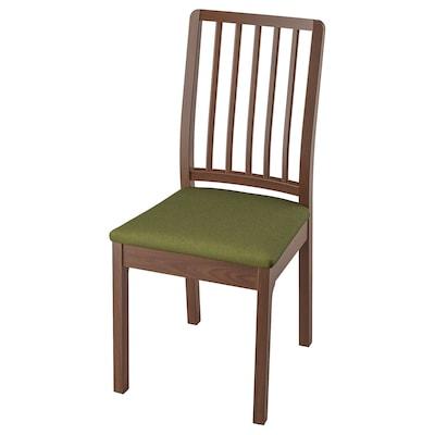 EKEDALEN Chair, brown/Orrsta olive-green
