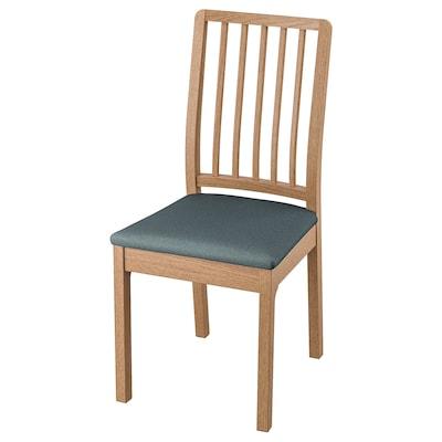 EKEDALEN Chair, oak/Idekulla blue