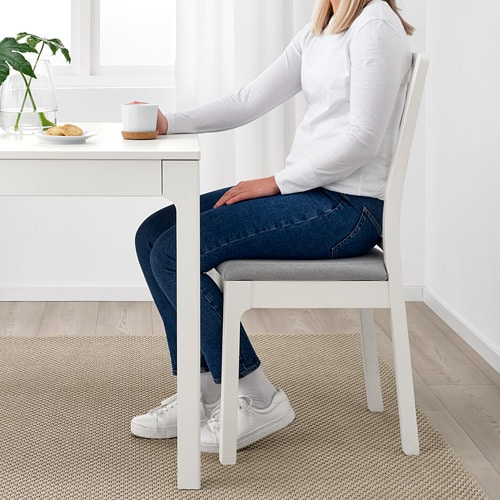 EKEDALEN Chair IKEA The upholstered seat and comfortable angle of the backrest make the chair perfect for long dinners.