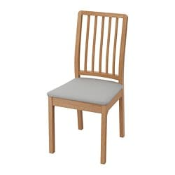 EKEDALEN chair, oak, Orrsta light grey