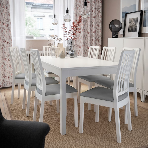 EKEDALEN chair white/Orrsta light grey 110 kg 45 cm 51 cm 95 cm 45 cm 39 cm 48 cm