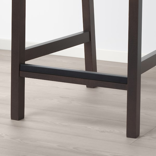 EKEDALEN / EKEDALEN bar table and 4 bar stools dark brown/Orrsta light grey