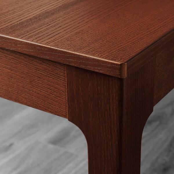 EKEDALEN / EKEDALEN table and 4 chairs brown/Orrsta light grey 120 cm 180 cm