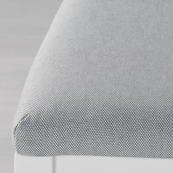 EKEDALEN / EKEDALEN table and 4 chairs white/Orrsta light grey 120 cm 180 cm