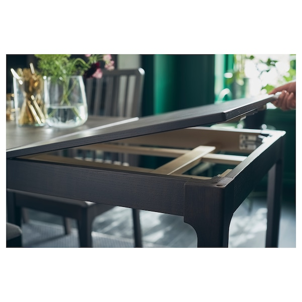 EKEDALEN extendable table dark brown 80 cm 120 cm 70 cm 75 cm