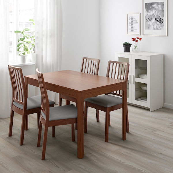 EKEDALEN extendable table brown 120 cm 180 cm 80 cm 75 cm