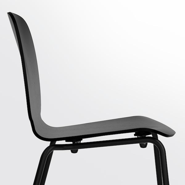 EKEDALEN / SVENBERTIL table and 4 chairs oak/black 120 cm 180 cm