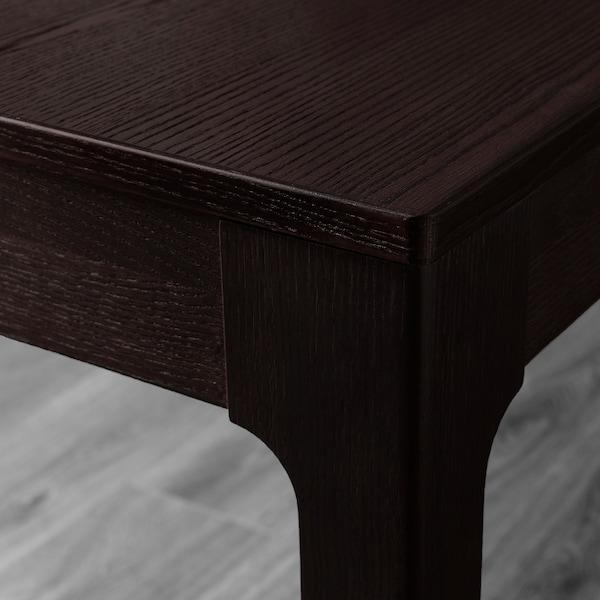 EKEDALEN / TOBIAS Table and 6 chairs, dark brown/blue, 180/240 cm