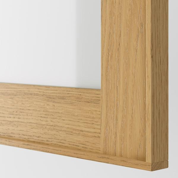 EKESTAD glass door oak 29.7 cm 60.0 cm 30.0 cm 59.7 cm 1.9 cm