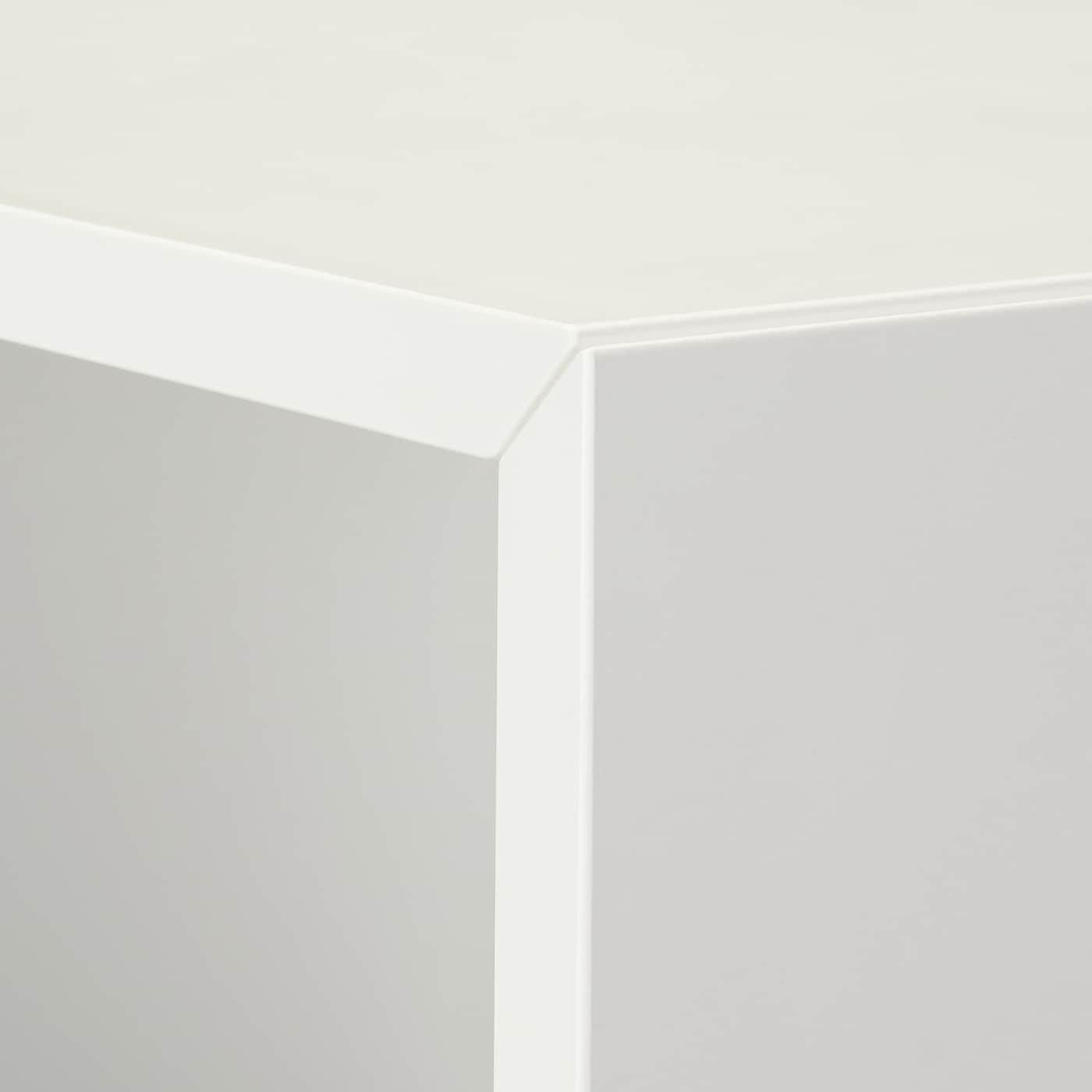 EKET Cabinet combination with feet, white/dark grey/light grey, 105x35x107 cm