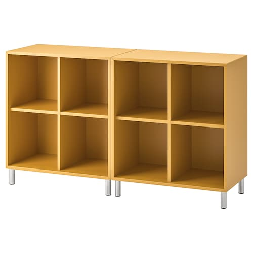 EKET cabinet combination with legs golden-brown 70 cm 140 cm 35 cm 80 cm