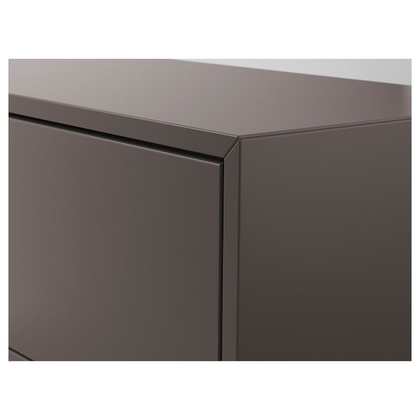 EKET Cabinet with 3 drawers, dark grey, 70x35x70 cm