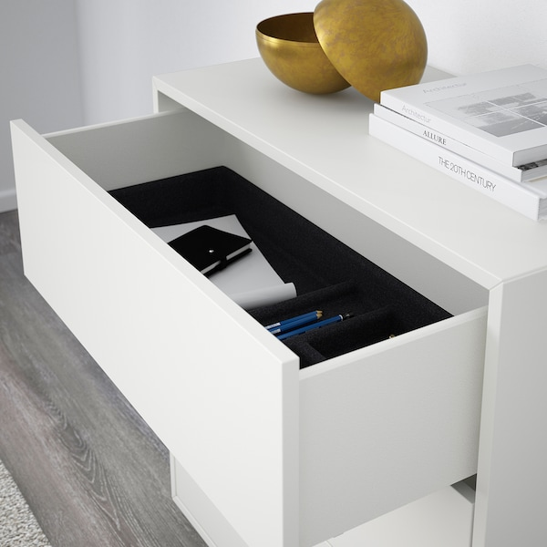 EKET Cabinet with 3 drawers, white, 70x35x70 cm