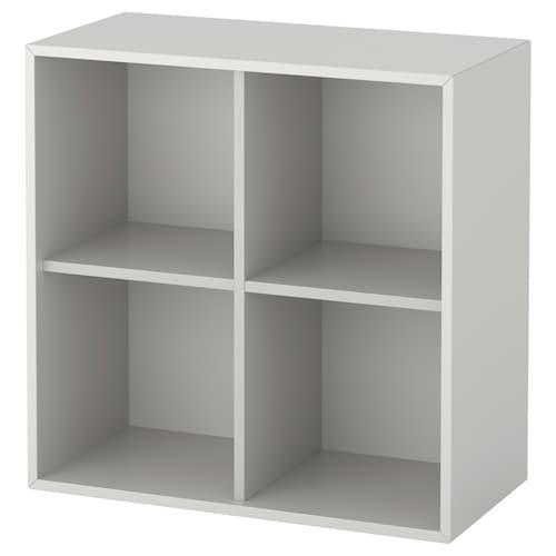 EKET cabinet with 4 compartments light grey 70 cm 35 cm 70 cm 7 kg