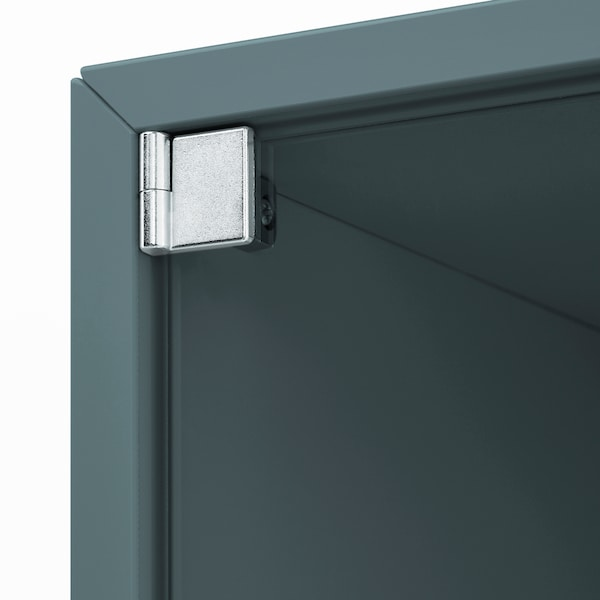 EKET Wall cabinet with glass door, grey-turquoise, 35x25x35 cm