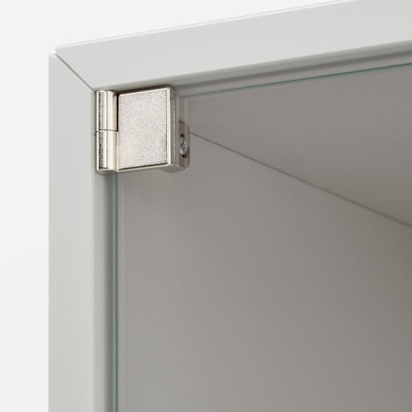 EKET Wall cabinet with glass door, light grey, 35x25x35 cm