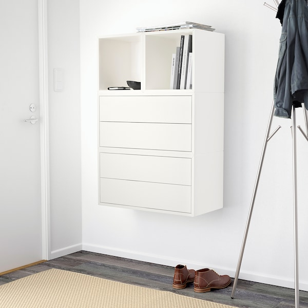 EKET wall-mounted cabinet combination white 70 cm 35 cm 105 cm