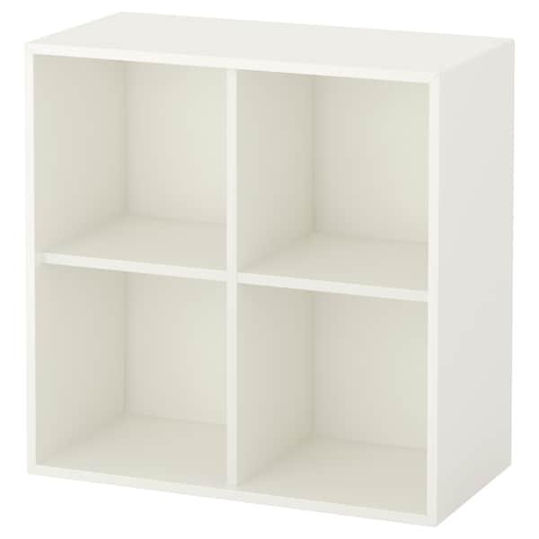 EKET Wall-mounted shelving unit w 4 comp, white, 70x35x70 cm