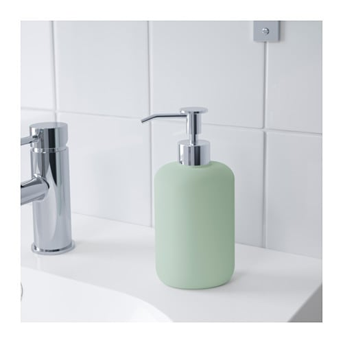 EKOLN Soap dispenser IKEA Easy to refill as the dispenser has a wide opening.