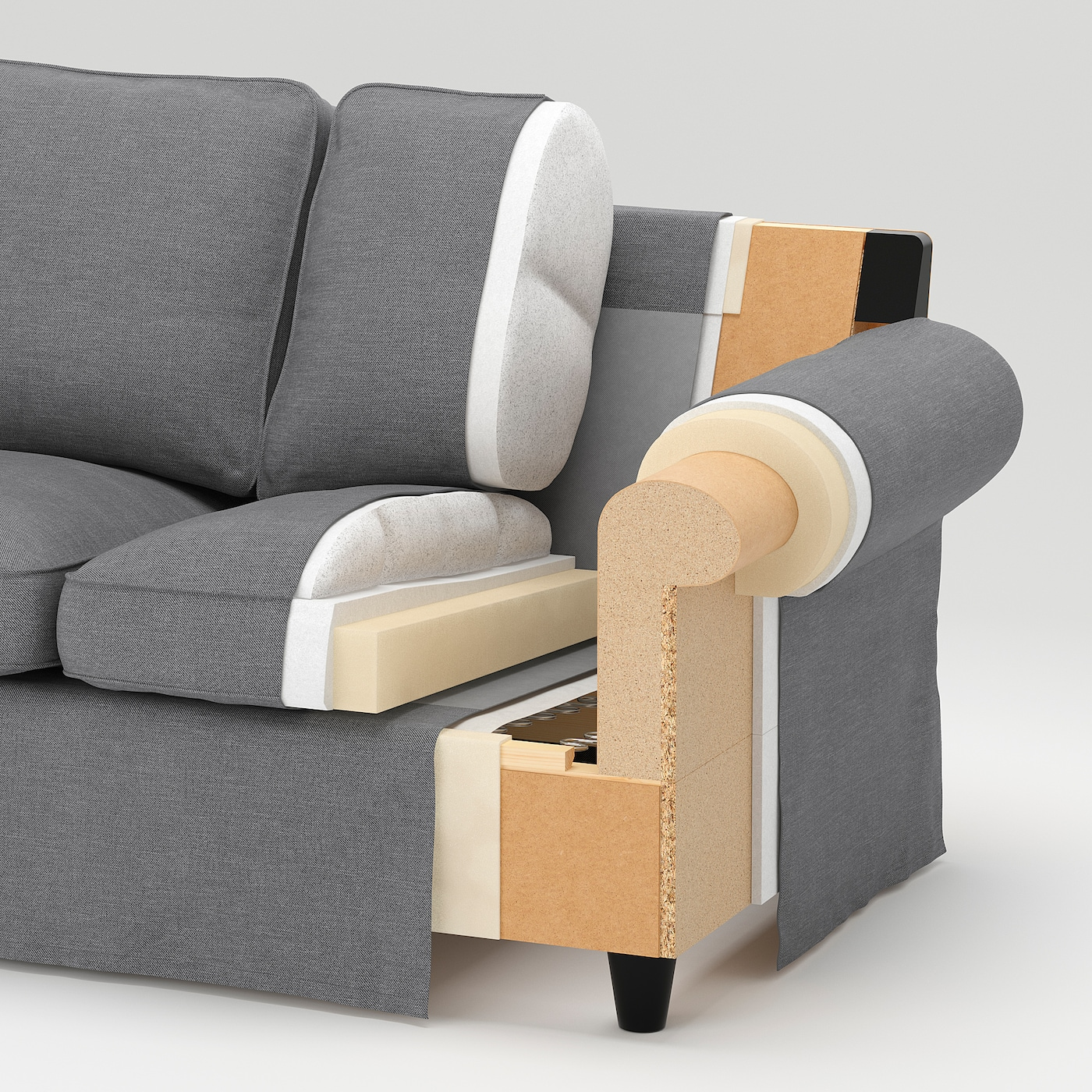 Ektorp 2 5 Zits Slaapbank.Ektorp 2 Seat Sofa Orrsta Black Blue Ikea