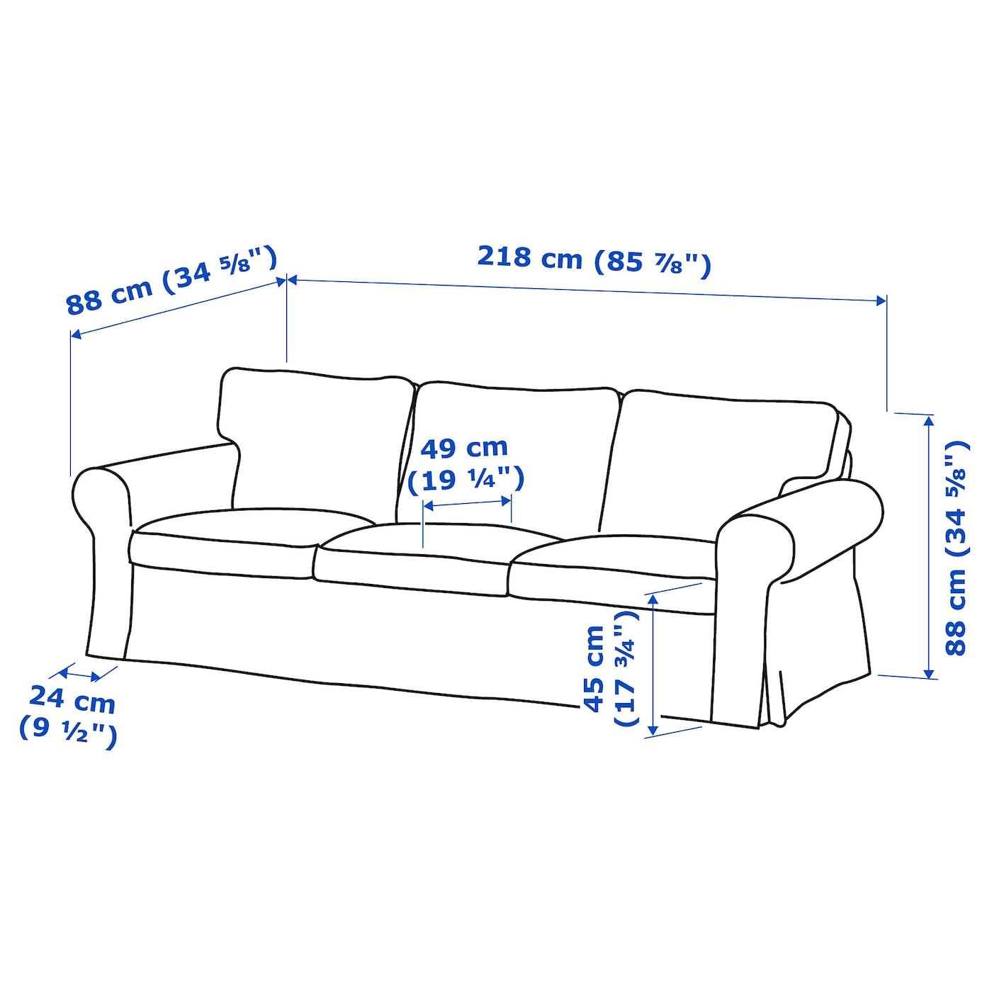 Ektorp 2 5 Zits Slaapbank.Ektorp 3 Seat Sofa Tallmyra White Black Ikea