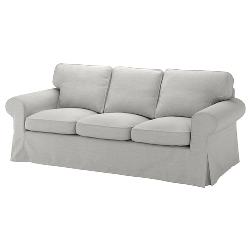 EKTORP 3-seat sofa Orrsta light grey 218 cm 88 cm 88 cm 49 cm 45 cm