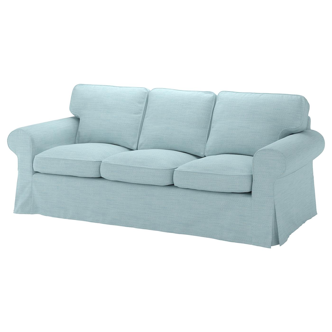 Ektorp Cover Three Seat Sofa Hillared Light Blue Ikea