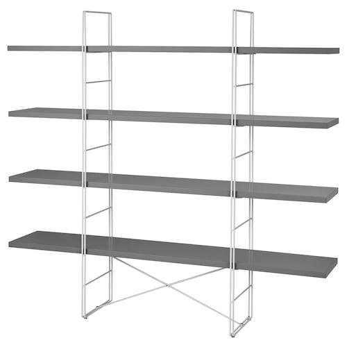 ENETRI shelving unit grey/white 170 cm 33 cm 158 cm 25 kg