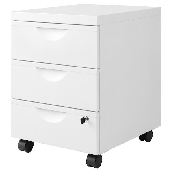 ERIK drawer unit w 3 drawers on castors white 41 cm 50 cm 57 cm