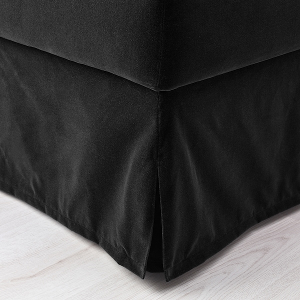FÄRLÖV Footstool with storage, Djuparp dark grey