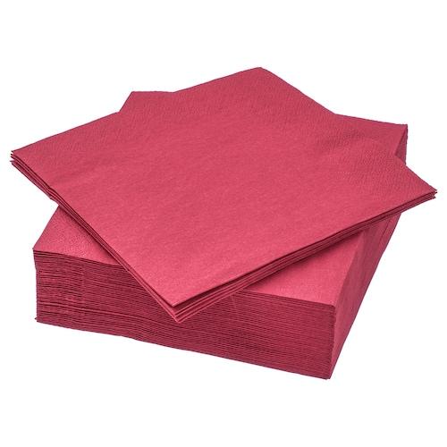 FANTASTISK Paper napkin, dark red, 33x33 cm
