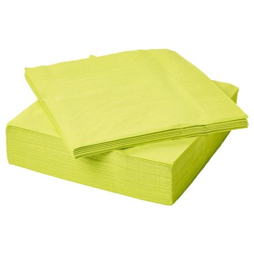 FANTASTISK paper napkin light green 33 cm 33 cm 50 pack
