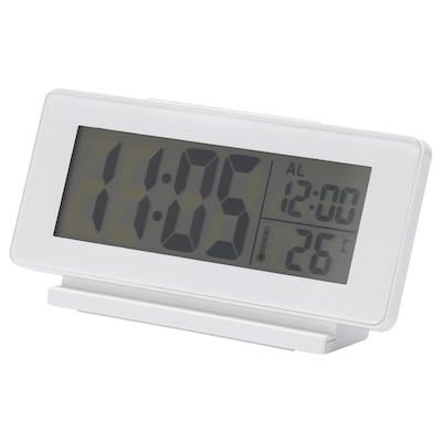 FILMIS Clock/thermometer/alarm, white