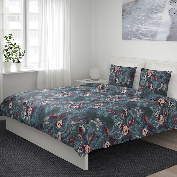IKEA FILODENDRON Quilt cover and 2 pillowcases