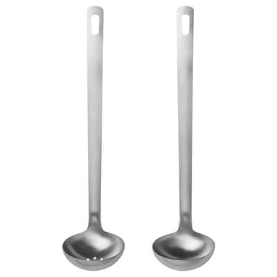 FISKSOPPA 2-piece kitchen utensil set, stainless steel
