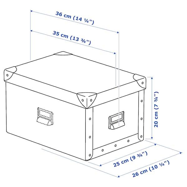 FJÄLLA storage box with lid white 35 cm 26 cm 36 cm 25 cm 20 cm