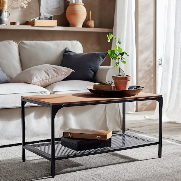 FJÄLLBO coffee table black 90 cm 46 cm 46 cm
